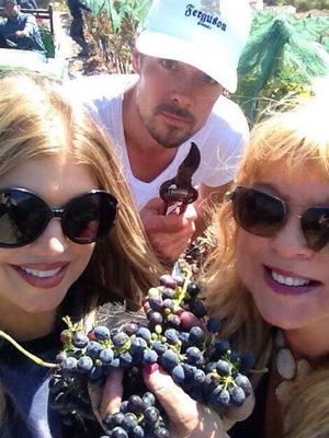 Fergie and Josh Duhamel at the Ferguson family vineyard