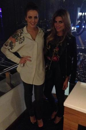 Zoe Hardman and Lydia Bright at Jay-Z's London concert