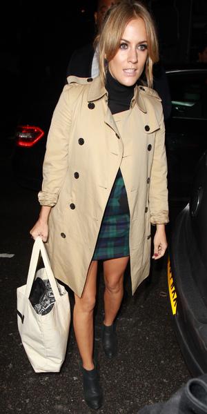 Caroline Flack films Celebrity Juice in London, 16 October 2013