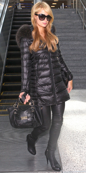 Paris Hilton arrives at LAX Airport, Los Angeles, 13 October 2013