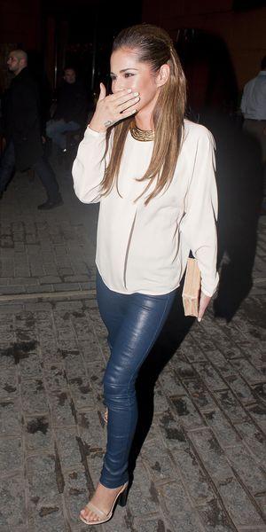 Cheryl Cole and Kimberley Walsh leaving Zuma Restaurant, London - 19 Oct 2013