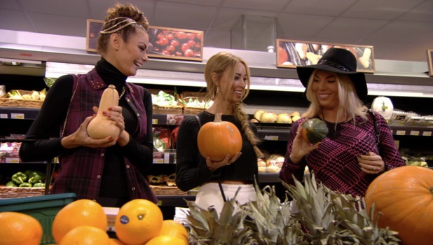 Chloe, Lauren and Frankie talk breast reductions on the fruit aisle, TOWIE episode 20 October 2013