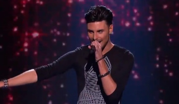 Rylan Clark sings One Night Only during X Factor sing off  - 13 October 2012