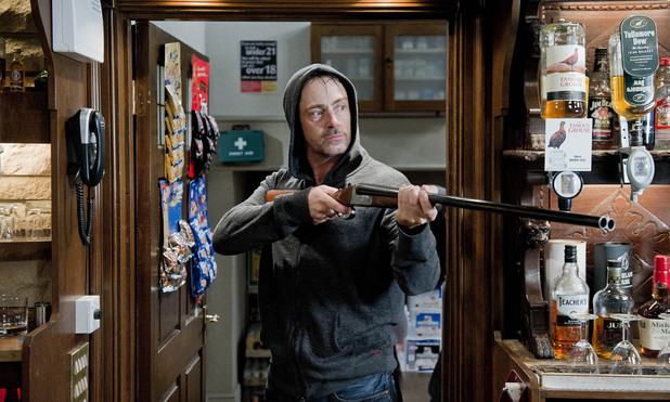 emmerdale, Cameron holds the pub hostage, Tue 15 Oct