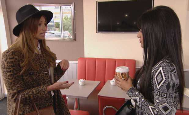 TOWIE episode (Wednesday 16th October 2013) Ferne McCann and Jasmin Walia clash