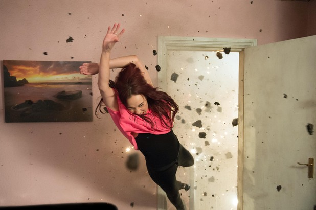 Hollyoaks, the bomb goes off, Tue 15 OCt
