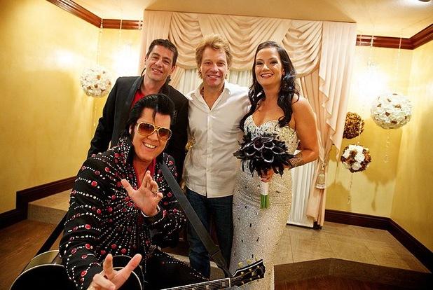 Bon Jovi, bride and groom