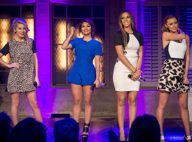The Saturdays - Mollie King, Vanessa White, Rochelle Humes and Una Healy perform on 'The Alan Titchmarsh Show' TV Programme, London, Britain. - 16 Oct 2013
