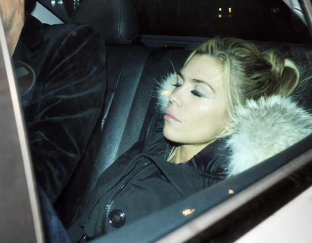 Abbey Clancy and Peter Crouch leaving the DISCO Club in Soho, London, Britain - 12 Oct 2013