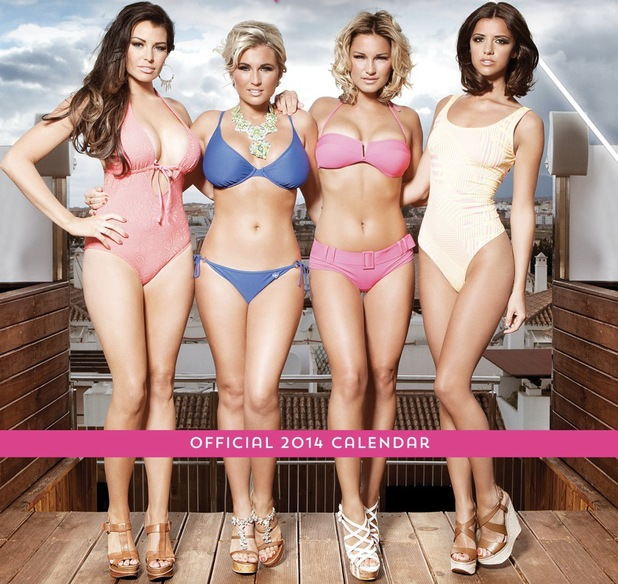 The TOWIE Girls 2014 Calendars Jessica Wright, Billie Faiers, Sam Faiers and Lucy Mecklenburgh