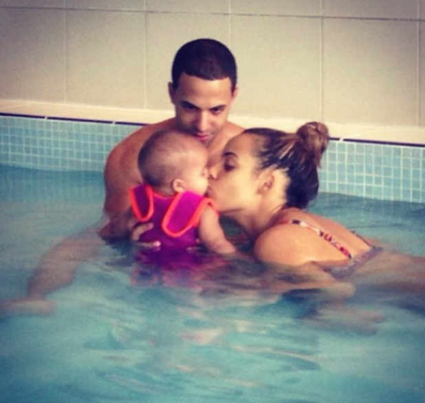 Rochelle and Marvin Humes take their daughter Alaia-Mai swimming - 16.10.2013
