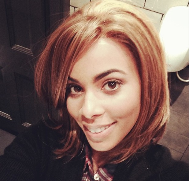 Rochelle Humes shows off 'light and short' hair on Instagram, 16 October 2013