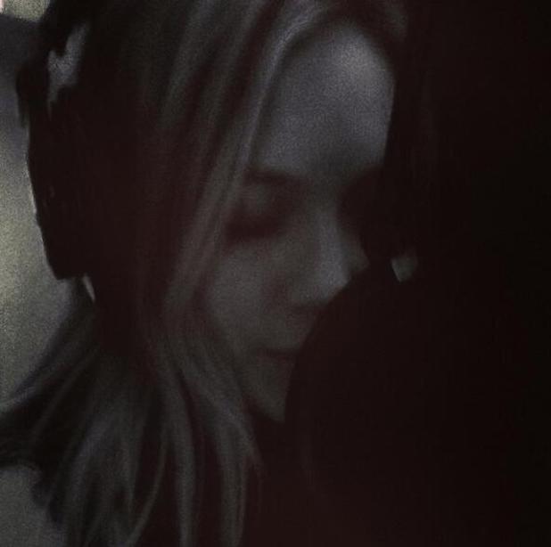 Hilary Duff in the recording studio