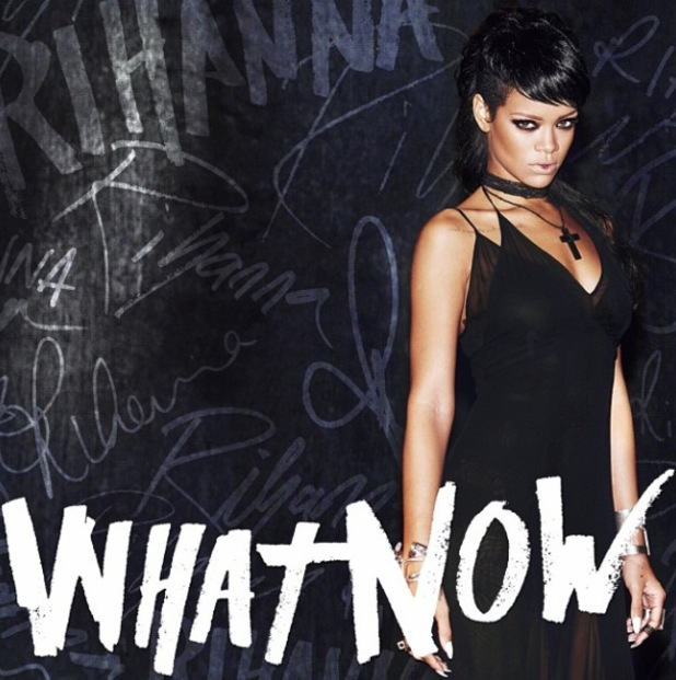Rihanna reveals new cover artwork for single 'What Now' - October 2013