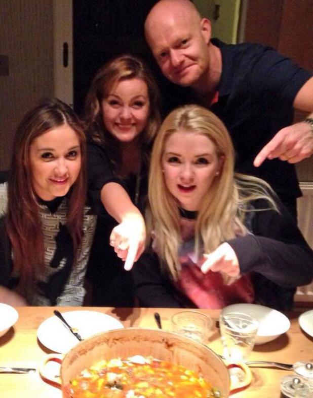 Jacqueline Jossa, Jo Joyner, Jake Wood and Lorna Fitzgerald reunite for a meal - 17 October 2013