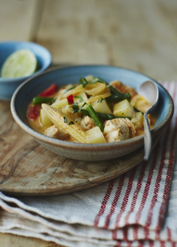 Thai potato chicken curry