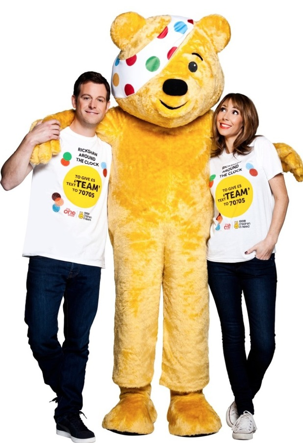 Matt Baker & Alex Jones with Pudsey Bear