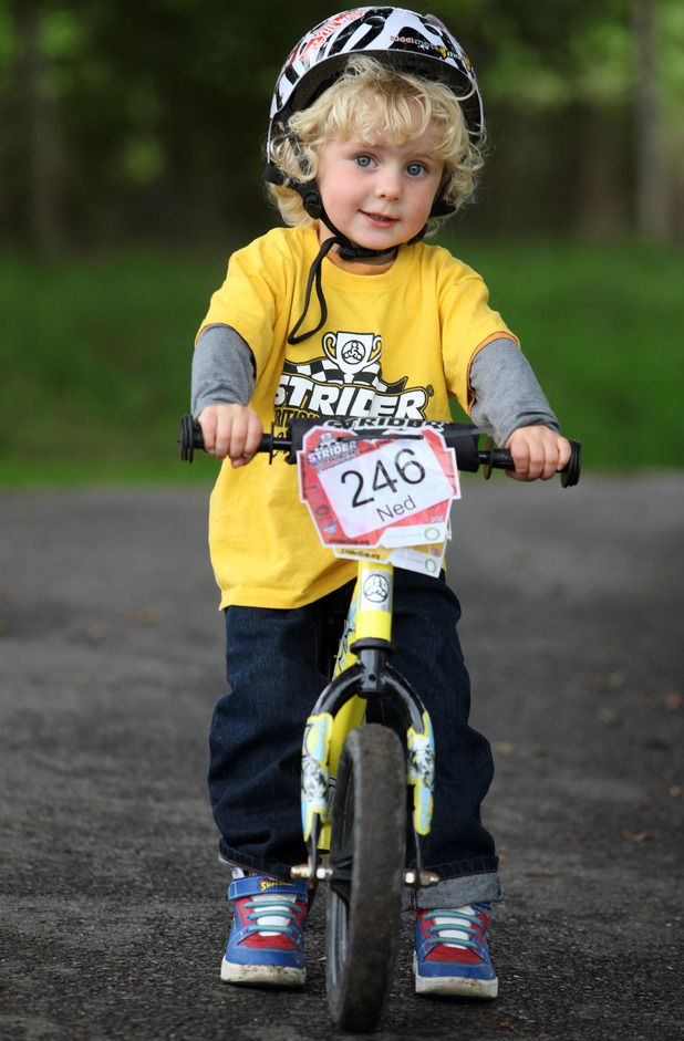 Two-year-old boy is Britain's youngest BMX champion, Selescombe, East Sussex, Britain - 03 Oct 2013