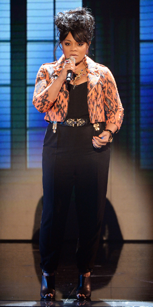 Lorna Simpson on X Factor Live Shows 12 October 2013
