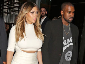Kim Kardashian and Kanye West: Celebrities attend Gelila & Wolfgang Puck's Dream for Future Africa Foundation honoring Vogue Italia Editor-In-Chief Franca Sozzani at Spago Beverly Hills, 24 October 2013