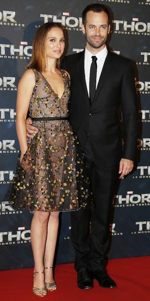 Natalie Portman, Benjamin Millepied at premiere of Thor: The Dark World in Paris, France - 23 October 2013