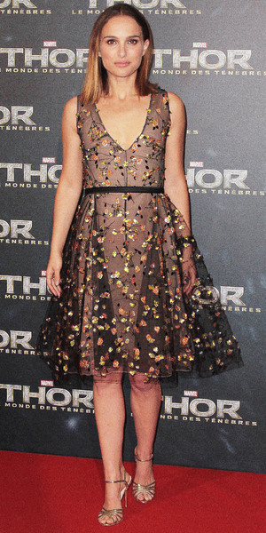 Natalie Portman at the premiere of Thor: The Dark World in Paris, France, 23 October 2013