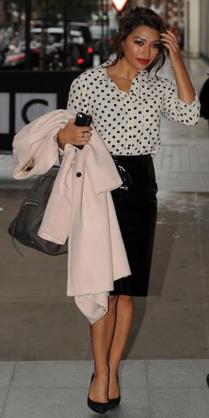 Vanessa White at the Radio 1 studios in London, 22 October 2013