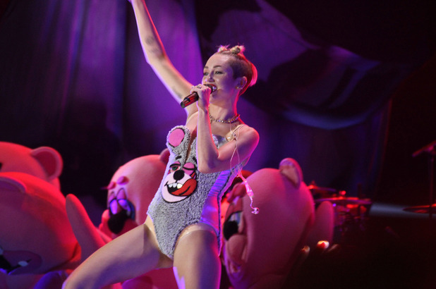 Miley Cyrus performs at the MTV Video Music Awards Show, New York, America - 25 Aug 2013