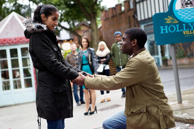 Hollyoaks, Vincent proposes, Tue 29 Oct