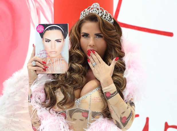 Katie Price launches her new autobiography, Love Lipstick and Lies at the Worx studios Credit :	Lia Toby/WENN.com Date Created : 10/22/2013