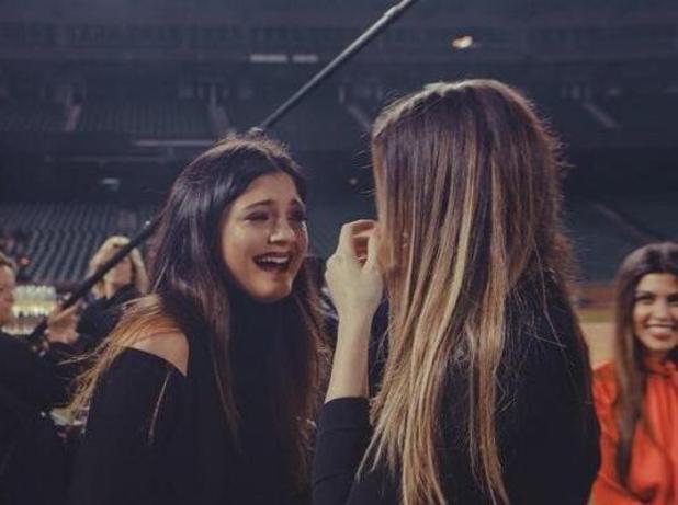 Kylie Jenner and Khloe Kardashian crying and Kim and Kanye West's engagement - 21 October 2013