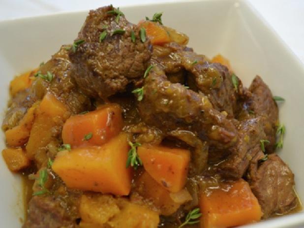 Beef and pumpkin stew
