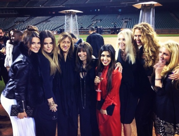 Kendall Jenner with Khloe and Kourtney Kardashian at Kim's proposal in San Francisco - 21.10.2013