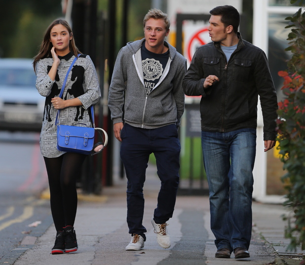 Jacqueline Jossa, Ben Hardy, David Witts - EastEnders cast take break from filming - 24.10.2013
