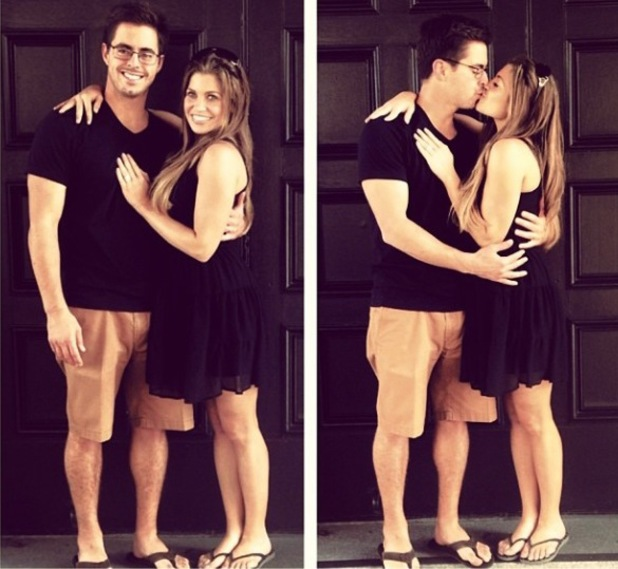 Danielle Fishel and Tim Belusko on the day after their wedding - October 2013
