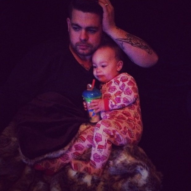 Jack Osbourne cuddles up to baby Pearl