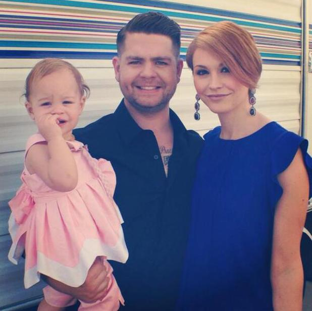 Jack Osbourne and wife Lisa Stelly bring daughter Pearl along for Dancing With The Stars.