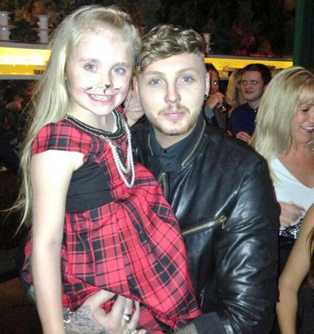 Chloe Sims's daughter Madison meets James Arthur at X Factor party - 23 October 2013