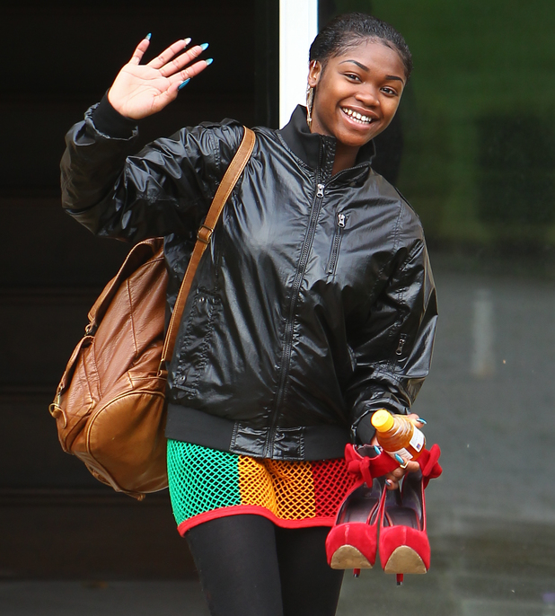 SeSe Foster from Miss Dynamix leaves the X Factor house for rehearsals - 25 October 2013