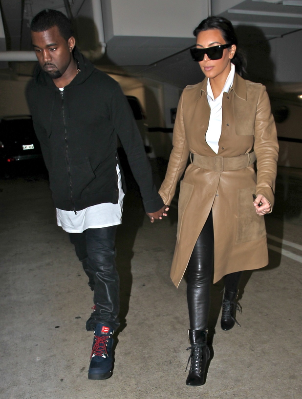 Kim Kardashian and Kanye West leaving a medical building In Beverly Hills - 22.12.2012