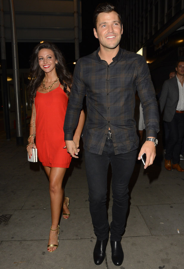 Michelle Keegan, Mark Wright at Faces in Essex, 5 October 2013