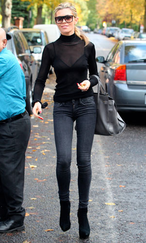 Abbey Clancy out and about, London, Britain - 25 Oct 2013