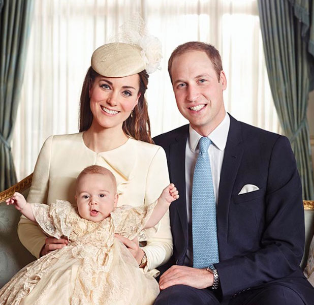 Official photograph of the christening of Prince George, 23 October 2013