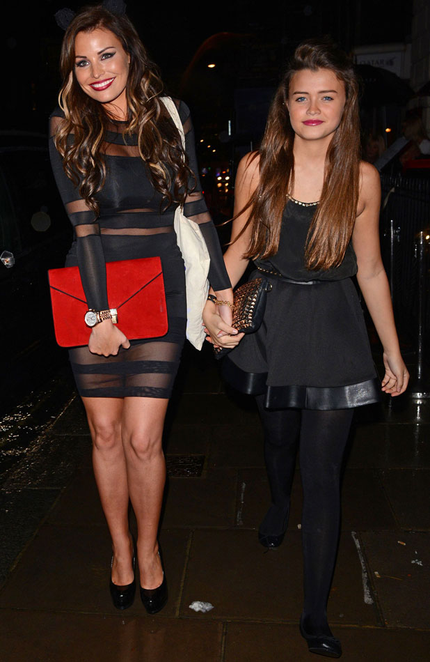 Natalya Wright and Jessica Wright at Claire's Halloween Party, London, 22 October 2013