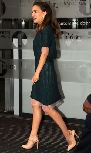 Natalie Portman pictured at the BBC, 22 October 2013