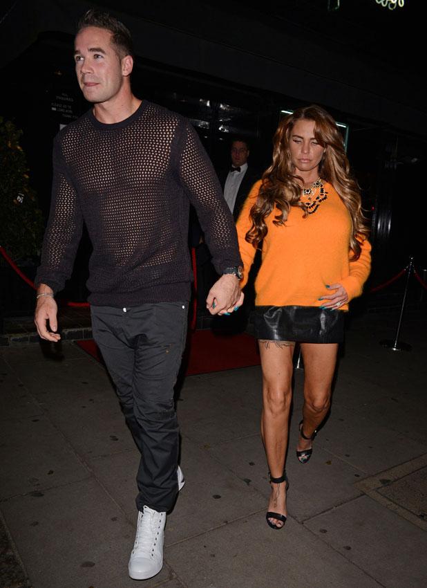 Katie Price and Kieran Hayler leaving Novikov, 24 October 2013