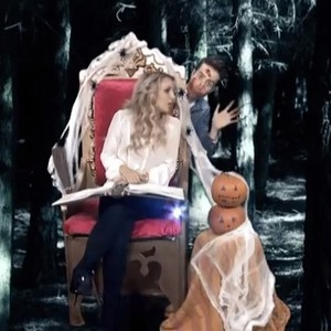 Britney Spears participates in a spoof video for Halloween with Nick Grimshaw, titled: It's Britney Witch