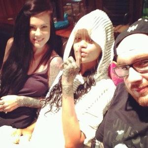 Rihanna's new henna-inspired hand tattoo by New York tattooists, Cally-Jo Art and Keith 'Bang Bang' McCurdy from Bang Bang tattoo parlour. (30 October)