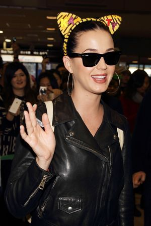 Katy Perry arrives at Narita International Airport, Chiba prefecture, Japan - 29 October 2013
