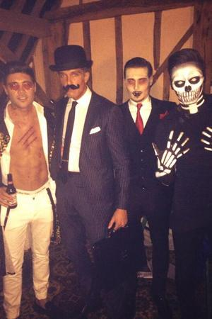 TOWIE cast dress up for Halloween: Mario Falcone, Charlie Sims, Tom Pearce, Billie Faiers, Ferne McCann, Jess Wright 27.10.2013